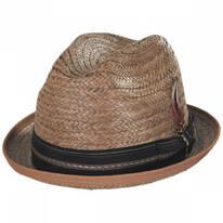 Coconut Straw Stingy Fedora Hat