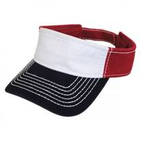 Thick Stitch Cotton Sport Visor