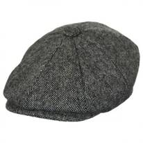Basketweave Marl Tweed Wool Newsboy Cap