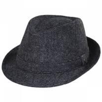 Herringbone Wool Trilby Fedora Hat
