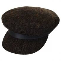 Tweed Wool Blend Fiddler Cap