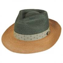 Valencia Two-Tone Hemp Straw Fedora Hat