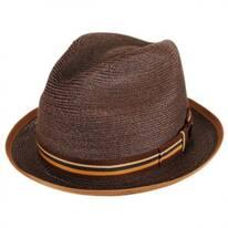 Sazerac Hemp Straw Trilby Fedora Hat
