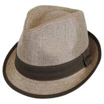Two-Tone Linen Trilby Fedora Hat