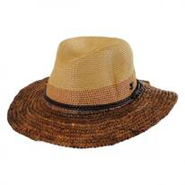 Mixed Toyo and Raffia Straw Fedora Hat