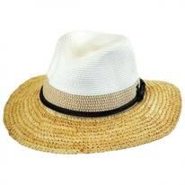 Mixed Toyo and Raffia Straw Fedora Hat
