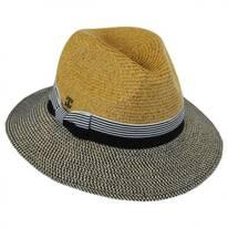 Metallic Tweed Brim Fedora Hat