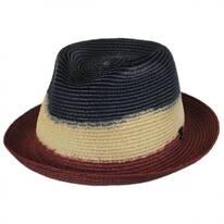 Dip Dyed Toyo Straw Trilby Fedora Hat