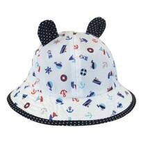 Baby Nautical Bucket Hat with Ears