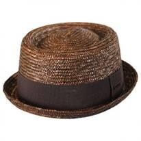 Wheat Straw Braid Pork Pie Hat