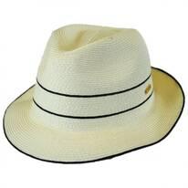 Fine Toyo Straw Braid Trilby Fedora Hat