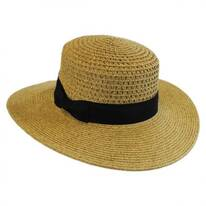 Vent Crown Toyo Straw Boater Hat