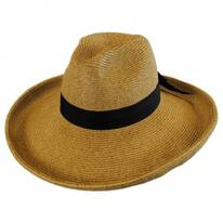Bow and Kettle Brim Toyo Straw Fedora Hat