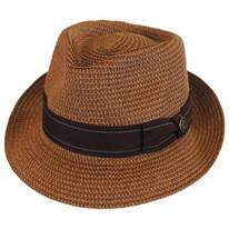 Diango Toyo Straw Tear Drop Fedora Hat
