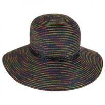 Rainbow Stitched Toyo Straw Sun Hat