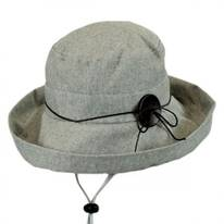 Pinstripe Cotton and Linen Bucket Hat
