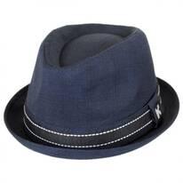 Turnt Up Brim Fabric Trilby Fedora Hat