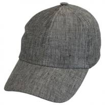 Herringbone Linen Fitted Baseball Cap