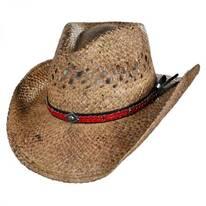 Talledega Straw Western Hat