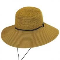 Ribbon and Toyo Straw Chincord Sun Hat