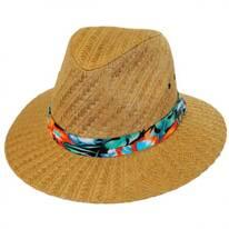 Tropical Band Toyo Straw Safari Fedora Hat
