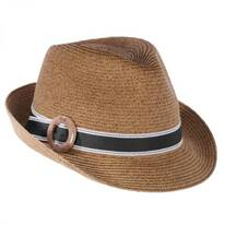 Buckle Straw Fedora Hat