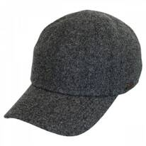 Melton Wool Earflap Baseball Cap