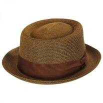 Waits Sewn Braid Straw Pork Pie Hat