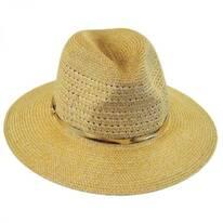 Tia Vent Crown Toyo Straw Fedora Hat