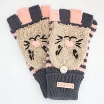 Adorbs Fold-over Knit Fingerless Gloves