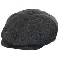 Brood Solid Wool Blend Newsboy Cap