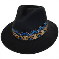 Fiona Wool Felt Fedora Hat