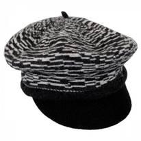 Two-Tone Wool Newsboy Cap