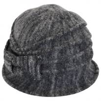 Heathered Boiled Wool Cloche Hat
