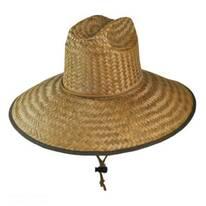 Palm Leaf Straw Lifeguard Hat