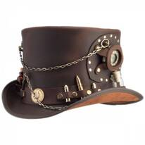 Time Port Kitchen Sink Band Leather Top Hat