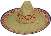 Mexican Palm Straw Sombrero