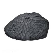 Chainlink Wool Blend Newsboy Cap