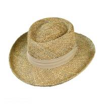 Pebble Beach Seagrass Straw Gambler Hat