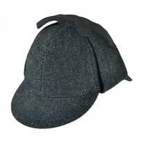 Sherlock Holmes Herringbone Wool Blend Hat