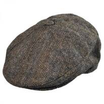 Tweed Wool Newsboy Cap