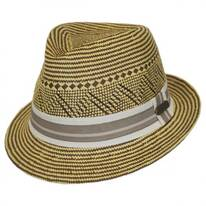 Panama Striped Fedora Hat