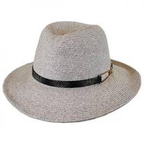 Buckle Band Straw Safari Fedora Hat