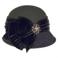 Vintage Two-Tone Cloche Hat