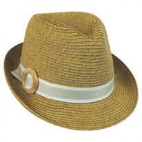 Buckle Straw Fedora Hat