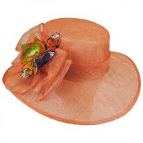 Butterfly Straw Boater Hat