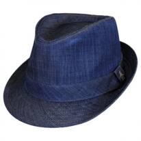Chambray Fedora Hat