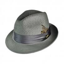 Vented Crown Fedora Hat
