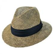 Seagrass Straw Safari Fedora Hat