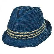 Adelaide Raffia Straw Fedora Hat